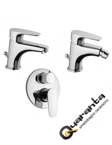 Paini Kit Smart miscelatore lavabo, bidet e doccia incasso con deviatore