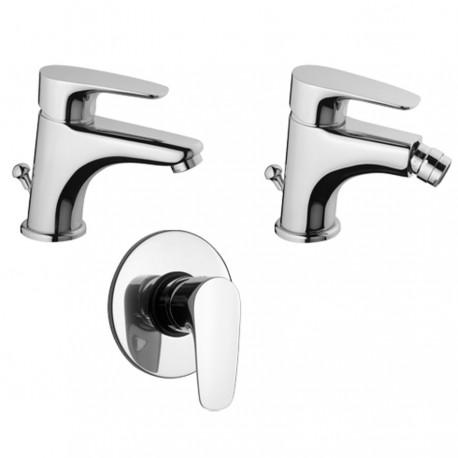 Paini Kit Smart miscelatore lavabo, bidet e doccia incasso