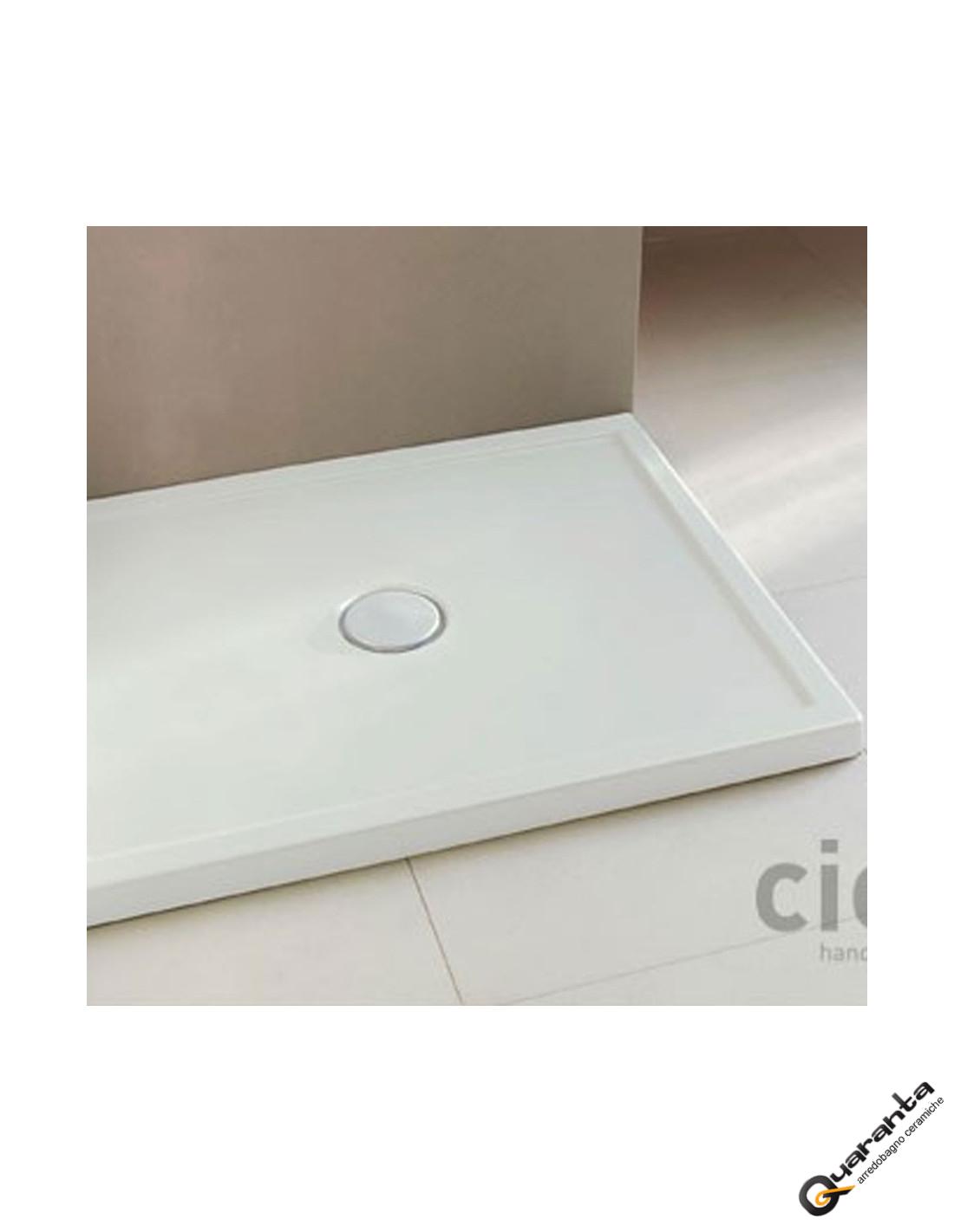 Piatto Doccia In Ceramica.Cielo Sessanta Piatto Doccia 80x120 H 6 Bianco