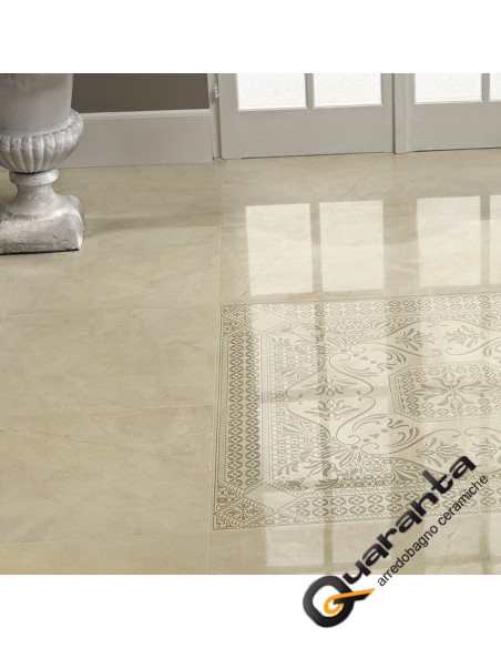 quaranta-ceramiche-golden-cream-lucido-evolutiomarble