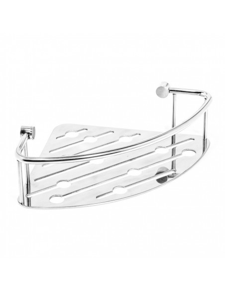 Cestello doccia angolare singolo in acciaio inox Thin line