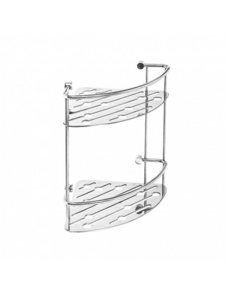 Cestello doccia angolare doppio in acciaio inox Thin line