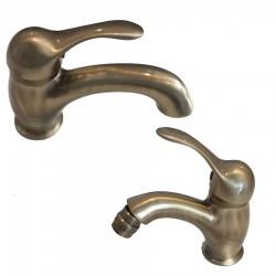 Raf Twiggy miscelatore monocomando lavabo e bidet bronzo