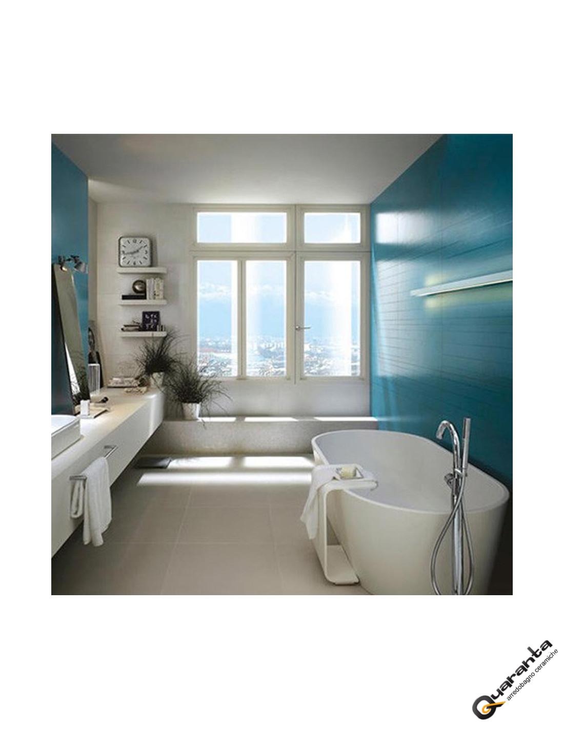 Rivestimento concreta quaranta ceramiche blu marazzi - Ceramiche bagno marazzi ...