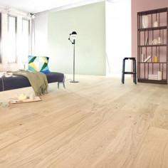 "Prefinished parquet Oak Michelangelo biancopsino ""listone 140 naturplus2 fibramix"" Listone Giordano"