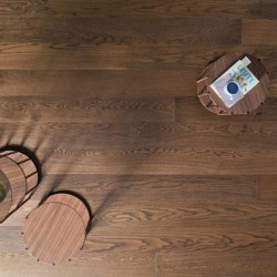 "Prefinished parquet Oak Michelangelo Tamarindo ""listone 140 naturplus2 fibramix"" Listone Giordano"