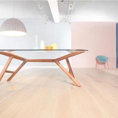 "Prefinished parquet Oak Michelangelo Lino ""listone 140 naturplus2 fibramix"" Listone Giordano"