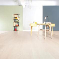 "Prefinished parquet Oak Michelangelo Montblanc ""listone 140 naturplus2 fibramix"" Listone Giordano"