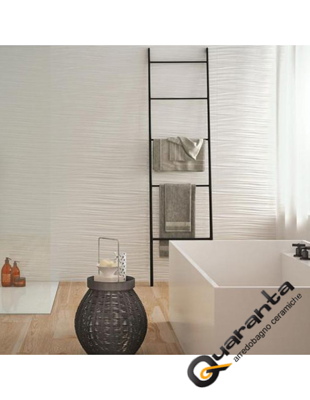 RIVESTIMENTO MARAZZI ABSOLUTE WHITE TWIST 3D LUX 25X76