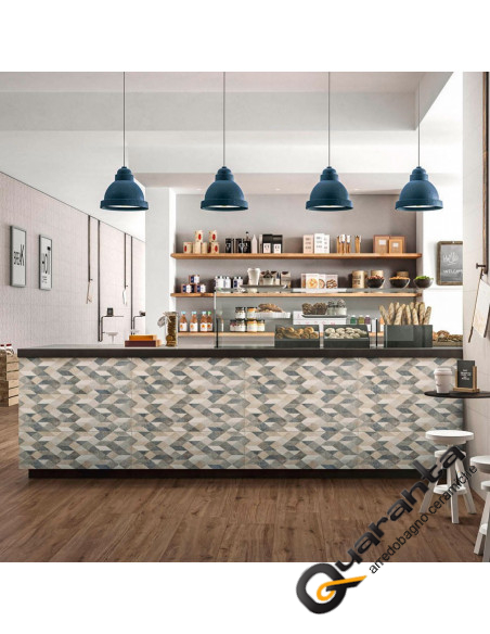 DECORO MARAZZI CHALK DECORO ORIG GREY 25X76