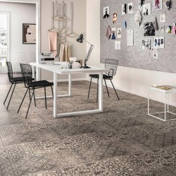 DECORO MARAZZI POWDER LIBERTY SMOKE GRAPHITE CRETE 75X75