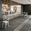 BATTISCOPA MARAZZI PLASTER ANTHRACITE 7X60