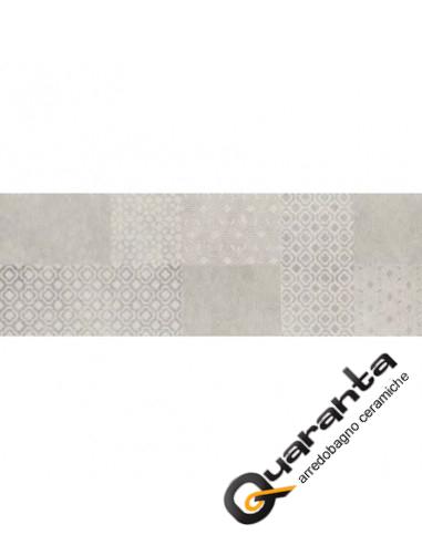 DECORO MARAZZI STONE ART PATTERN STEEL 40X120