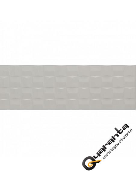 Marazzi Pottery Silver Struttura Cube 3D 25x76