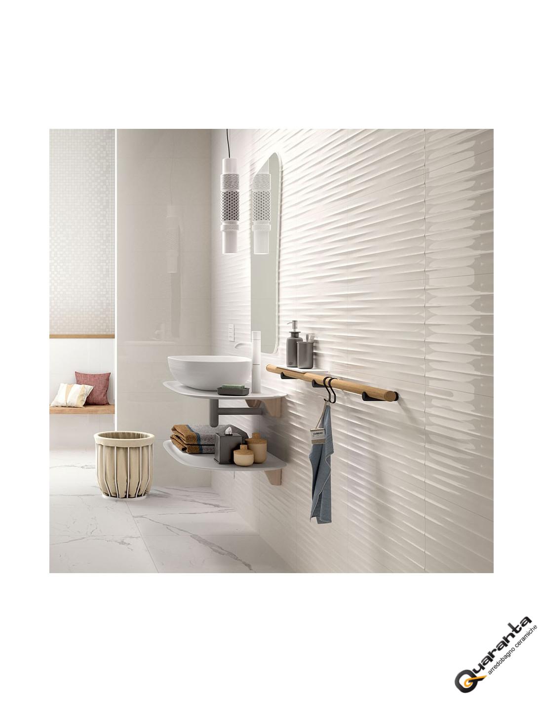 Rivestimento marazzi quaranta ceramiche color code bianco lucido - Piastrelle 15x15 bianco lucido ...