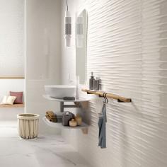 Marazzi Color Code Bianco Struttura Drape 3D Lux rettificato 30x60