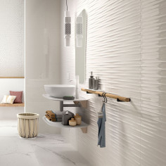 Marazzi Color Code White Structure Drape 3D Lux rectified 30x60