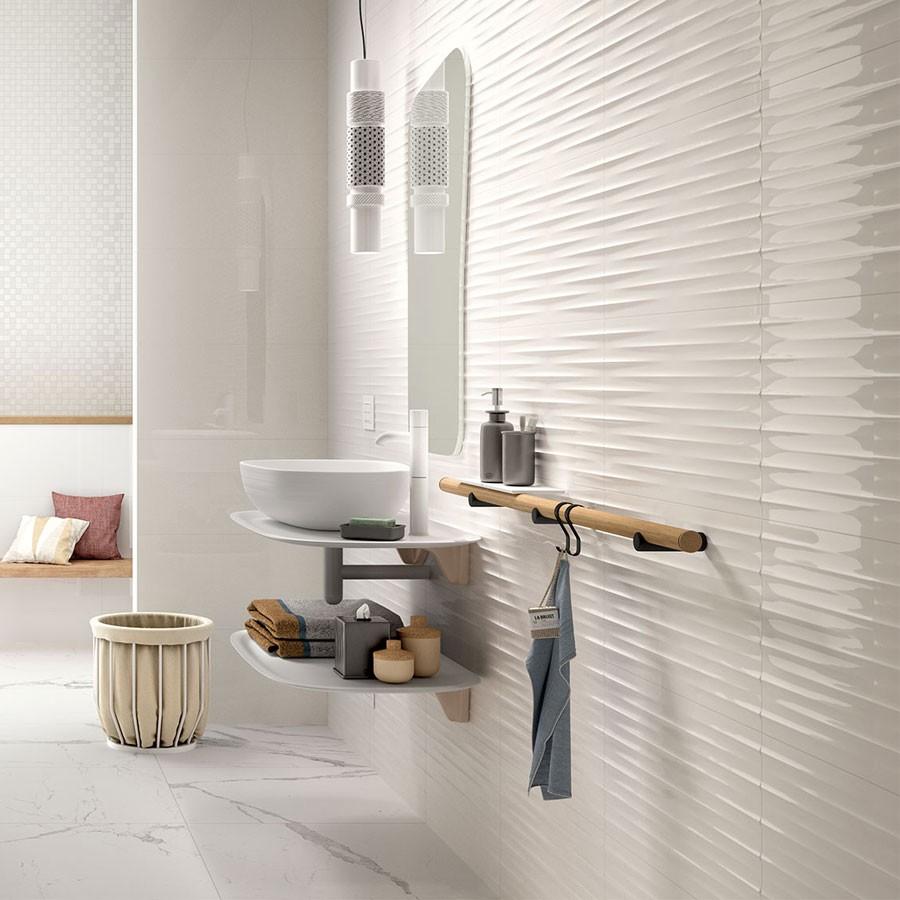 Color Code Bianco Str Drape 3d 30x60 Mnxn Marazzi Quaranta Ceramiche