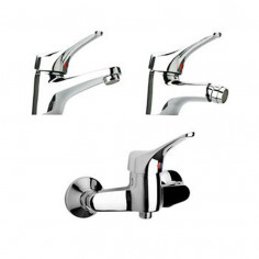 Paini Pilot basin and bidet taps with shower mixer