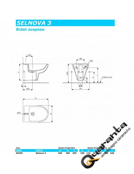 Pozzi Ginori Selnova 3 kit sospeso vaso, bidet e coprivaso