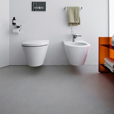 Laufen Kartell wall hung toilet pan with soft close seat and bidet