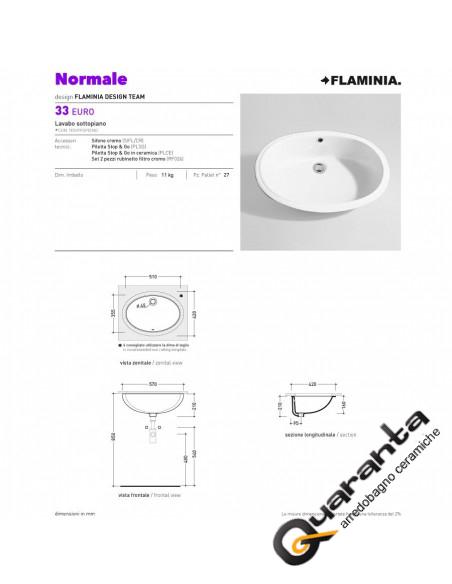 Ceramica Flaminia Euro lavabo sottopiano