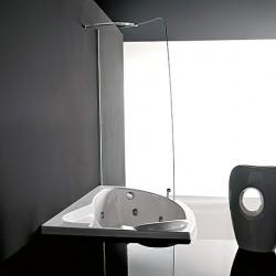 Treesse vasca idromassaggio Syria con box doccia in cristalllo temperato da 6mm