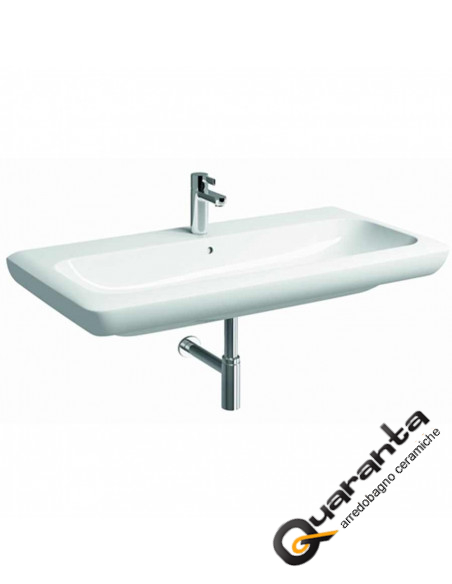 Lavabo in ceramica sospeso simmetrico cm 100 Pozzi Ginori serie Fast