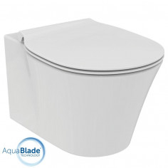 Vaso sospeso Aquablade Ideal Standard Connect AIR completo di coprivaso rallentato