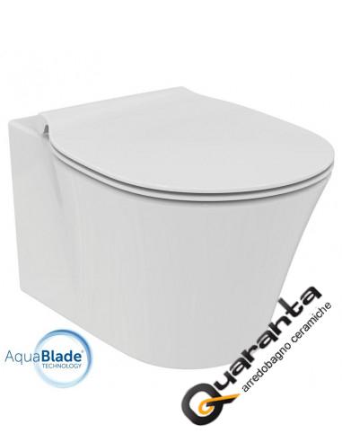 ideal standard connect air vaso sospeso aquablade e coprivaso rallentato quaranta ceramiche srl. Black Bedroom Furniture Sets. Home Design Ideas
