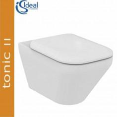 Vaso sospeso Aquablade Ideal Standard Tonic II completo di coprivaso slim