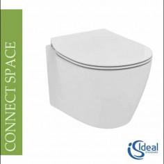 Vaso sospeso Ideal Standard Connect Space completo di coprivaso rallentato