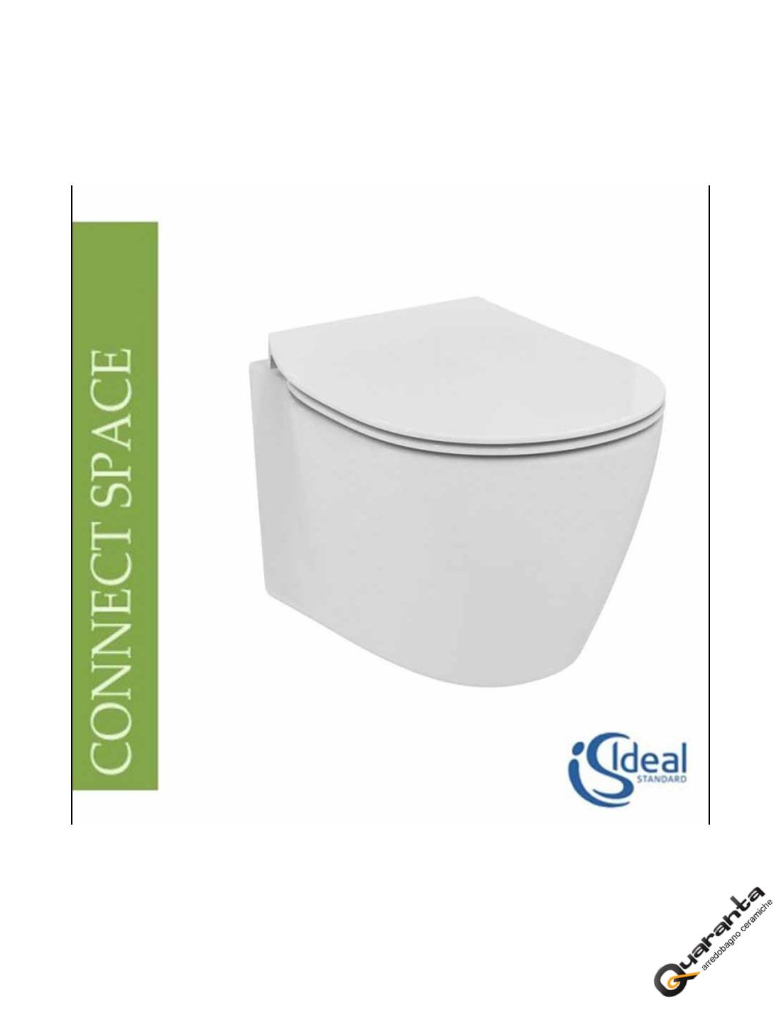Ideal Standard Vaso Connect.Vaso Sospeso Ideal Standard Connect Space Completo Di Coprivaso Rallentato