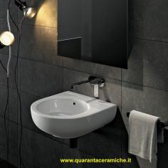 Flaminia Pass lavabo sospeso o da appoggio cm 35x39