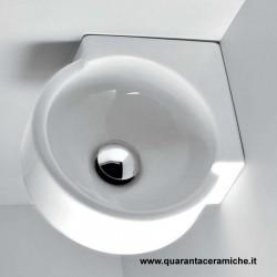 Flaminia Mini Twin lavabo sospeso ad angolo cm 30