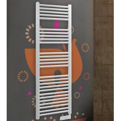 Termoarredo elettrico Lazzarini Cortina bianco con termostato 1375x480