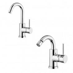 Bugnatese Kobuk single lever basin and bidet taps
