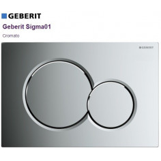 Flush plate Geberit Sigma 01 Chrome