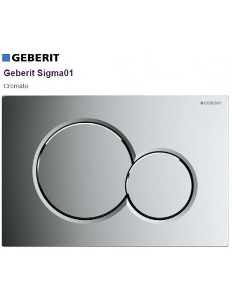 Placca di comando Geberit Sigma 01 Cromo Lucido