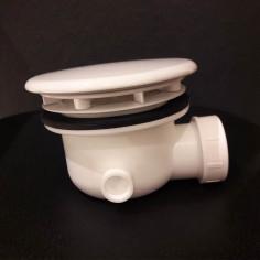 Sifone per p.doccia 90mm ceramica bianca