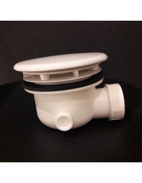 Sifone per p.doccia 90mm coperchio in ceramica bianca