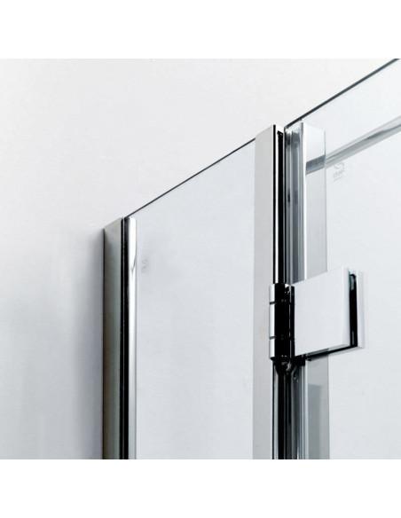 Box doccia Duna con apertura battente con profili inox e cristallo 8 mm Bianchi e Fontana