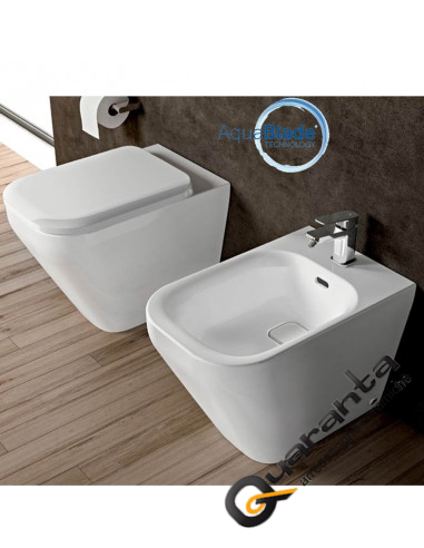 ideal standard tonic ii kit filo muro vaso aquablade bidet e coprivaso quaranta ceramiche srl. Black Bedroom Furniture Sets. Home Design Ideas