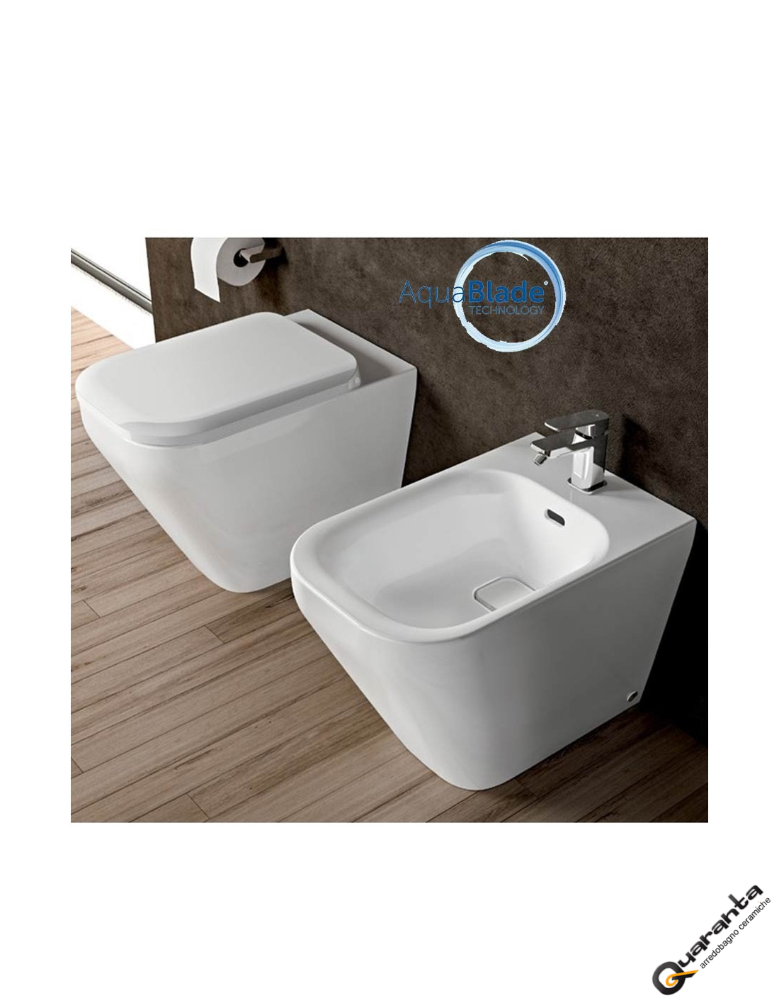 sanitari quaranta ceramiche vaso bidet coprivaso aquablade. Black Bedroom Furniture Sets. Home Design Ideas