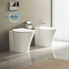 Ideal Standard Connect Air kit filo muro vaso AquaBlade, bidet e coprivaso a chiusura rallentata