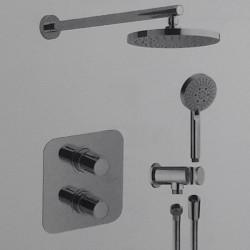 Termostatico doccia incasso con deviatore ceramico due uscite