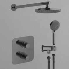 Kit termostatico doccia incasso con miscelatore lavabo e miscelatore bidet