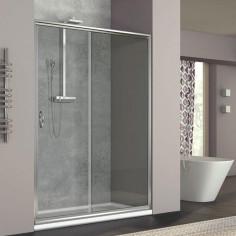 Box doccia Nolan nicchia scorrevole 100 cm trasparente cristallo 6mm altezza 185 cm
