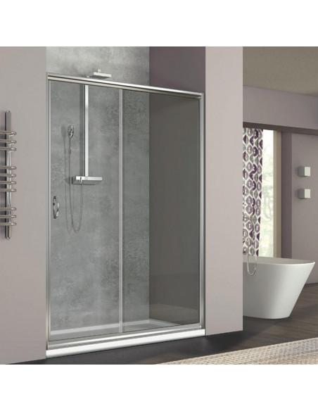 Box doccia Zaffiro nicchia scorrevole 100 cm trasparente cristallo 6mm altezza 190 cm