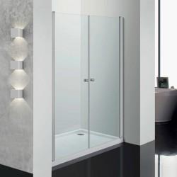 Perla porta a saloon 80 cm trasparente cristallo 6 mm altezza 190 cm